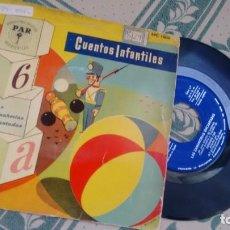 Discos de vinilo: SINGLE (VINILO) CON EL CUENTO INFANMTIL LAS ZANAHORIAS ENCANTADAS AÑOS 50. Lote 295400283