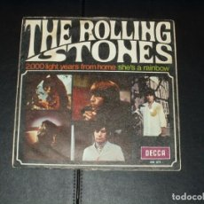 Discos de vinilo: ROLLING STONES SINGLE 2000 LIGHT YEARS FROM HOME. Lote 295406428