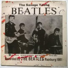 Discos de vinilo: TONY SHERIDAN AND THE BEATLES. THE SAVAGE YOUNG. CFE-CHARLY, SPAIN 1982 LP. Lote 295408503