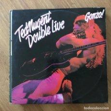 Discos de vinilo: TED NUGENT - DOUBLE LIVE GONZO! - LP DOBLE EPIC 1978. Lote 295409193