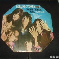 Discos de vinilo: ROLLING STONES LP THROUGH THE PAST DARKLY. PRIMERA EDICION LABEL NEGRO.. Lote 295413638