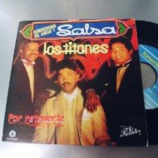 Discos de vinilo: LOS TITANES-SINGLE POR RETENERTE-NUEVO. Lote 295417118