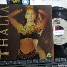 Discos de vinilo: THALIA SINGLE PROMOCIONAL SALIVA ESPAÑA 1991. Lote 295347093
