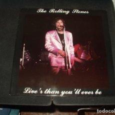 Discos de vinilo: ROLLING STONES LP DOBLE LIVE'R THAN YOU'LL EVER BE. Lote 295418678