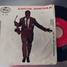 Discos de vinilo: LOUIS JORDAN-EP PEACE OF MIND +3-ESPAÑOL 1959-TAPA TRASERA ROTA. Lote 295419088