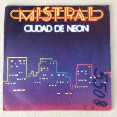 Discos de vinilo: MISTRAL. CIUDAD DE NEÓN. ASFALTO.. Lote 295422153