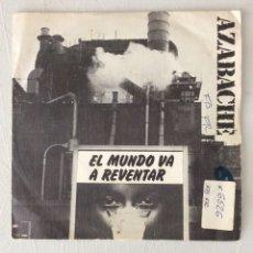 Discos de vinilo: AZABACHE. EL MUNDO VA A REVENTAR. POR LOS VIEJOS TIEMPOS. Lote 295424253