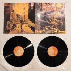 """Discos de vinilo: IRON MAIDEN FIRST 10 YEARS 1, DOBLE 12"""" COLOMBIA. Lote 295424768"""