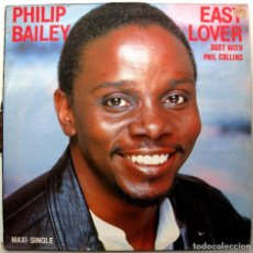 Discos de vinilo: PHILIP BAILEY (EARTH, WIND & FIRE) DUET WITH PHIL COLLINS (GENESIS) - EASY LOVER - MAXI CBS 1985 BPY. Lote 295425018