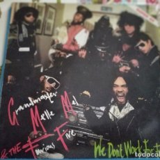 """Discos de vinilo: GRANDMASTER MELLE MEL & THE FURIOUS FIVE–WE DON'T WORK FOR FREE ZAFIRO – OOS-721 12"""". NUEVO.MINT/VG+. Lote 295441808"""
