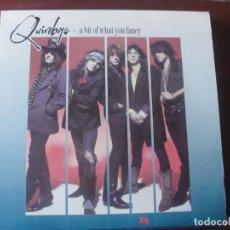 Discos de vinilo: LP QUIREBOYS A BIT OF WHAT YOU FANCE NUEVO HARD ROCK. Lote 295443258