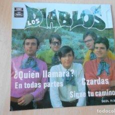 Discos de vinilo: DIABLOS, LOS, EP, ¿QUIÉN LLAMARÁ? + 3, AÑO 1968. Lote 295446433