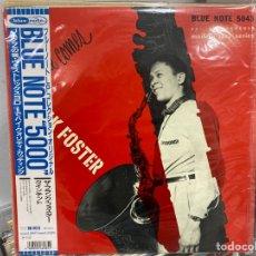Discos de vinilo: FRANK FOSTER QUINTET - HERE COMES FRANK FOSTER (LP, ALBUM, MONO) (1991/JP) (CON OBI E INSERTO). Lote 295451678