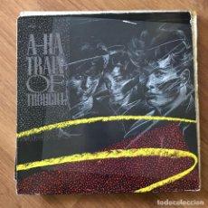 """Discos de vinilo: A-HA - TRAIN OF THOUGHT (U.S. MIX) - 12"""" MAXISINGLE REPRISE 1986. Lote 295457918"""