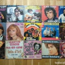 Discos de vinilo: COLECCIÓN SINGLES MÚSICA FRANCESA. Lote 295464333