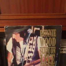 Discos de vinilo: RONNIE WOOD / SLIDE ON LIVE / DOBLE ALBUM / CONTINUUM RECORDS 1993. Lote 295471443