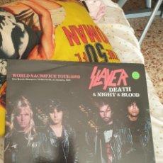 Discos de vinilo: SLAYER / DEATH & NIGHT & BLOOD / DOBLE ALBUM / BARCA DISCOS 2012. Lote 295471918