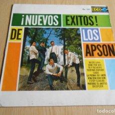 Discos de vinilo: APSON, LOS, - ¡ NUEVOS EXITOS ! - ,LP, TRISTE LUNA + 9, AÑO 19?? IMPRESO EN MEXICO. Lote 295478458