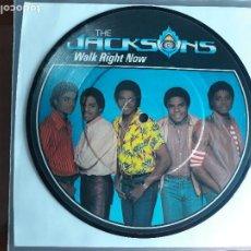 Discos de vinilo: MICHAEL JACKSON AND THE JACKSONS -WALK RIGHT NOW- SINGLE VINILO PICTURE DISC-UK- RARE!!. Lote 295479323