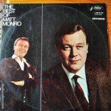 Discos de vinilo: THE BEST OF MATT MONRO - LP. Lote 295479808