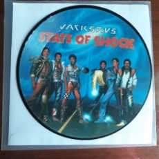 Discos de vinilo: MICHAEL JACKSON AND JACKSONS -STATE OF SHOCK- SINGLE VINILO PICTURE DISC-UK- RARO!!!!. Lote 295479853