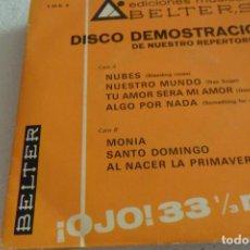 Discos de vinilo: DISCO DEMOSTRACION BELTER NUBES +7 EP 1969. Lote 295481488