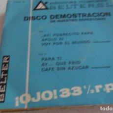 Discos de vinilo: DISCODEMOSTRACION - AY POBRECITO PAPA +6 EP 1969. Lote 295481768