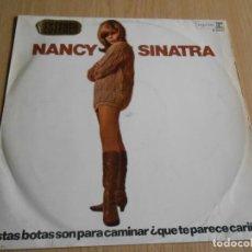 Discos de vinilo: NANCY SINATRA ,LP, ESTAS BOTAS SON PARA CAMINAR + 12, AÑO 1966. Lote 295482083