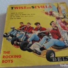 Discos de vinilo: ROCKING BOYS -TWIST EN SEVILLA + 3 EP 1962. Lote 295483188