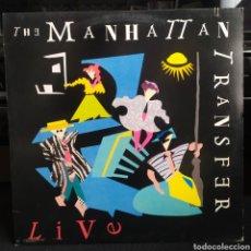 Discos de vinilo: THE MANHATTAN TRANSFER - LIVE US 1987. Lote 295491278