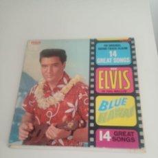 """Discos de vinilo: LP DE ELVIS """"BLUE HAWAII"""". EDITADO EN 1961. RCA VICTOR STEREO. Lote 295491933"""
