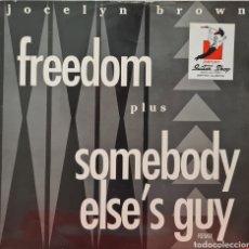 Discos de vinilo: MAXI - JOCELYN BROWN - FREEDOM - UK 1990. Lote 295508548