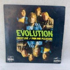 Discos de vinilo: SINGLE EVOLUTION - I MUST LIVE - ESPAÑA - AÑO 1972. Lote 295511593