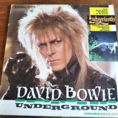 Discos de vinilo: DAVID BOWIE - UNDERGROUND (EXTENDED DANCE MIX) LABYRINTH BSO ********* MAXI ESPAÑOL 1986. Lote 295524898