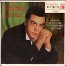 Discos de vinilo: MARIO LANZA - AVE MARIA, NESSUN DORMA, DI QUELLA PIRA.../ EP RCA 1961 / BUEN ESTADO RF-5961. Lote 295532078
