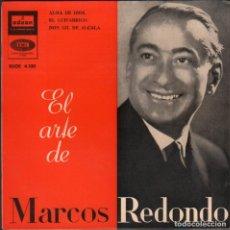Discos de vinilo: MARCOS REDONDO - ALMA DE DIOS, EL GUITARRICO, DON GIL DE ALCALA.../ EP ODEON 1960 RF-5962. Lote 295532218