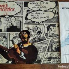 Discos de vinilo: OVIDI MONTLLOR - HISTÒRIA D'UN AMIC******** RARO EP 1969 PORTADA EQUIPO CRÓNICA. Lote 295535518
