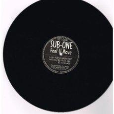 Discos de vinilo: SUB-ONE - FEEL U MOVE - MAXI SINGLE 1997 - ED. AUSTRIA - SOLO VINILO. Lote 295538148