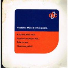 Discos de vinilo: HYSTERIX - MUST BE THE MUSIC - MAXI SINGLE 1994 - ED. UK. Lote 295539928