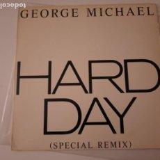 "Discos de vinilo: GEORGE MICHAEL – HARD DAY (SPECIAL REMIX) USA MAXI 12"" 1987. Lote 295544873"
