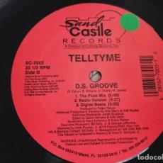 """Discos de vinilo: TELLTYME – D.S. GROOVE 1992.SAND CASTLE RECORDS – SC-7003 FORMATO(12"""").BUENO. NEAR MINT / GENERICA. Lote 295546898"""