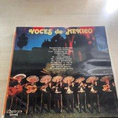 Discos de vinilo: VOCES DE MEXICO. Lote 295550508