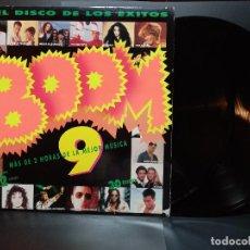 Discos de vinilo: BOOM 9, EL DISCO DE LOS ÉXITOS, DOBLE LP . EMI SPAIN 1993 PEPETO. Lote 295551313