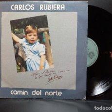 Discos de vinilo: LP SFA CAMÍN DEL NORTE CARLOS RUBIERA ASTURIAS FOLKLORE PEPETO. Lote 295551408