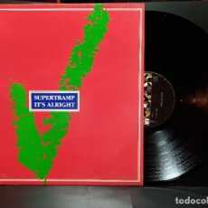 Discos de vinilo: SUPERTRAMP, MAXI , IT´S ALRIGHT + 1, AÑO 1987 AM RECORDS PEPETO. Lote 295551533