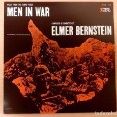 Discos de vinilo: MEN IN WAR (LA COLINA DE LOS DIABLOS DE ACERO) ELMER BERNSTEIN DISCOS VINILO 1985 COMO NUEVO!. Lote 295569023