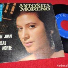 Discos de vinilo: ANTOÑITA MORENO SAN JUAN/BRISAS DEL NORTE 7'' SINGLE 1968 BELTER. Lote 295582528
