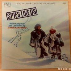 Discos de vinilo: SPIES LIKE US (ESPÍAS COMO NOSOTROS) ELMER BERNSTEIN DISCOS VINILO 1986 COMO NUEVO!!. Lote 295582843