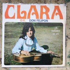 Discos de vinilo: CLARA O.K. DON FELIPON. NEW OLD STOCK. Lote 295583618