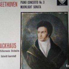 Discos de vinilo: SXL 2190 - BEETHOVEN - PIANO CONCERTO NO.3 - BACKHAUS - SCHMIDT-ISSERSTEDT.. Lote 295590243